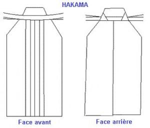 Hakama avant & arrière